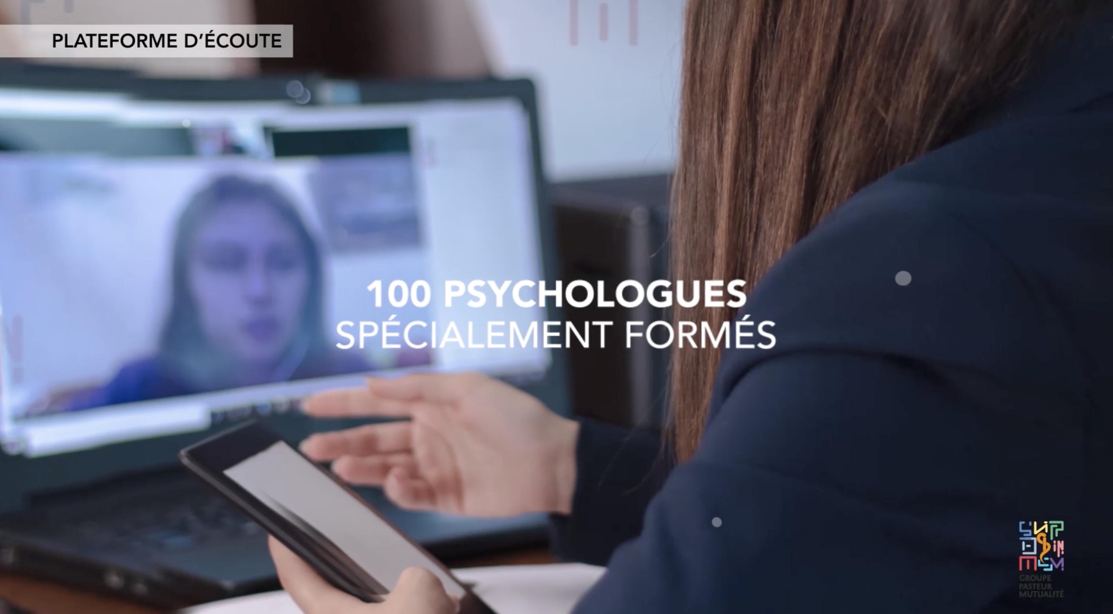 Notre plateforme de soutien psychologique est accessible 24/24H, elle propose une mise en relation avec un réseau de 100 psychologues spécialement formés aux situations de stress précoce ou post-traumatique.